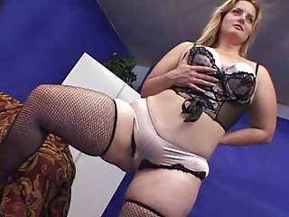 Amazing BBW Cute Lingerie MILF Stockings
