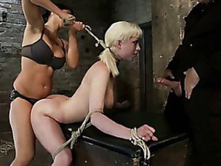 Cherry gets both ends brutally fucked..