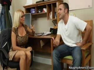 Big Tits Blonde Glasses MILF Pornstar Teacher