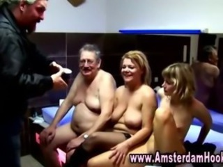 Real amsterdam whore gets a cumshot
