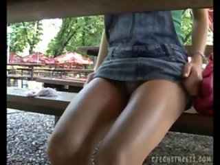 European Outdoor Teen Upskirt