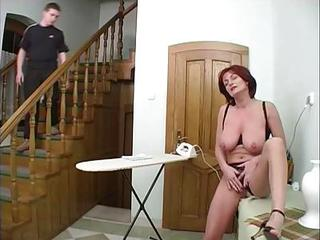 Big Tits Mature Mom Natural Old and Young Redhead Voyeur