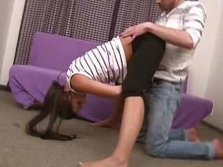 Flexible Gymnast Gets Shaged