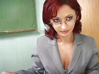 Cute Glasses MILF Redhead Teacher