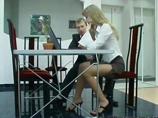Pantyhose Russian Secretary Teen