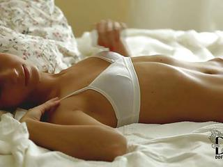 Teen Angelica Is A Skinny European Hottie With Small Tits. She Shows Off Her Slender Body In Bed With Her Bra And Panties On Before Stripping. She Takes Off Her White Bra And Exposes Her Sexy Perky Tits.