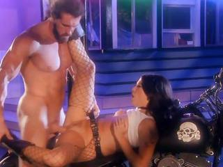 Biker Guy Takes Hot Whore Roxy Deville And Pounds Her Nice Twat