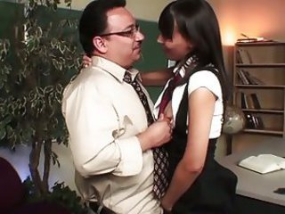 Nympho student fucked by her teacher