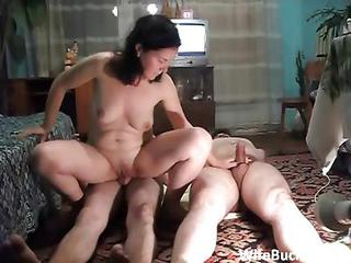 Wife Takes Turns On Cocks
