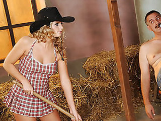 Teen cowgirl obeys