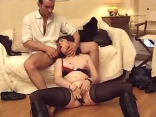 Butt fucking a French mature slut
