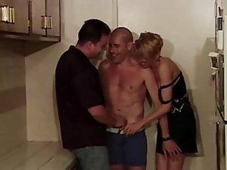 Bisexual ass fuck amateur threesome
