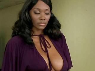 Busty Black Nyomi Banxx Asstoyed And Fucked In Her Butt