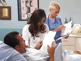 Amazing Cute Doctor MILF Nurse Pornstar Threesome Uniform