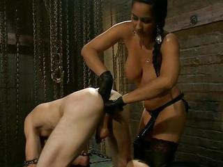 Mistress And Her Male Bondman To Fuck