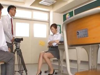 Asian Japanese MILF Skirt Teacher