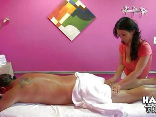 Black Haired Asian Mia Rider Gives Amazing Massage To Her Client Jay,...