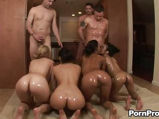 Molly Bennet And Her Slutty Friends All With Well Shaped Oiled Asses S...