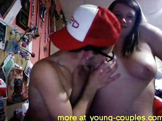 American College Couple Blowjob In Dorm