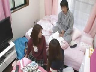Asian Japanese Old and Young Teen Threesome