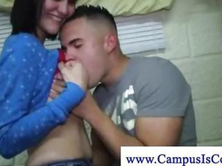 Cockstarving College Teens Blowing Cock During Dorm Orgy