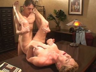 Office fucking as naughty mature secretary opens for young cock