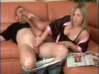 beautiful milf gives hj nylon feet femdom hottest
