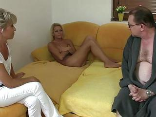 Daddy Daughter Old and Young Teen Threesome