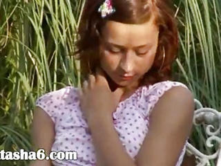 Cute Outdoor Redhead Russian Teen