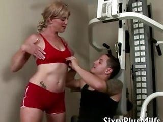Blonde Mature Likes Young Sports...
