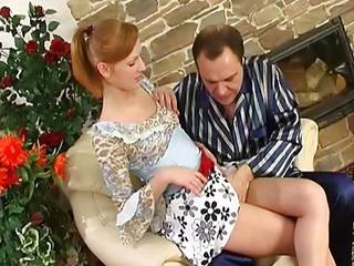 Naughty Maid Pussy Licked And Fu...