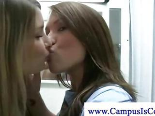 College Teens Getting Cozy In Be...