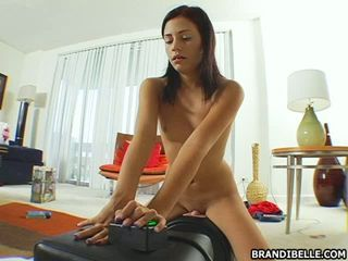 Yummy sweetheart Brandi Belle can't wait to have the orgasm she desires