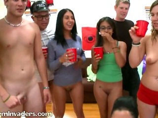 Slutty Girls Ride College Boys in Dorm