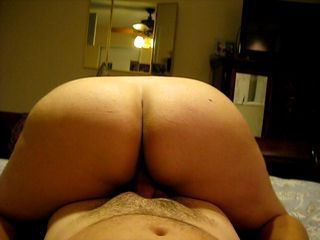 Wife&amp,#039,s big white ass riding reverse cowgirl