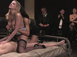 Babe Bondage Groupsex Public Stockings
