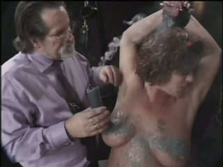 Dominant Old Man Tortures Her Mature Wife's Big Natural Knockers