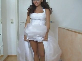 Girl in her wedding dress fucked hard