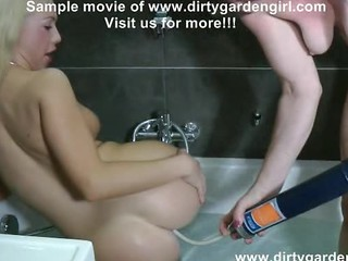 Ass Bathroom Insertion Lesbian Teen