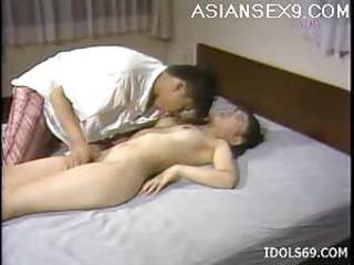 Mai Misaki horny Asian housewife gets her pussy pounded during her lunch break