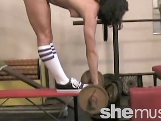 Amateur Flexible Muscled Sport Teen