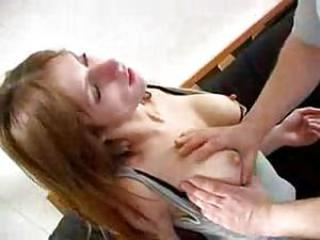 Red Head Chokes On British Cock