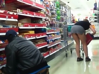 Shopping with no panties on