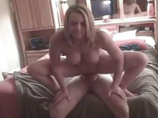 Amateur Creampie Homemade MILF Riding Wife