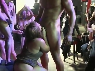 Blowjob CFNM Drunk Interracial MILF Party