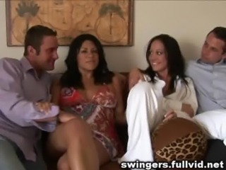 Brunette Groupsex MILF Swingers Wife