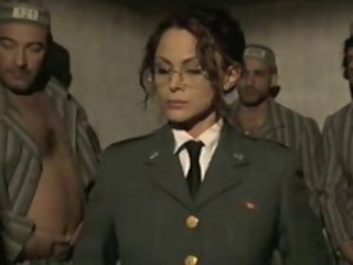 Amazing Army Cute European Gangbang Glasses Italian MILF Prison Uniform Vintage