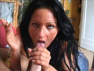 Amateur Blowjob Brunette European German Girlfriend Homemade Pov Smoking