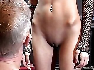 Kinky redhead bitch tortures old horny manj