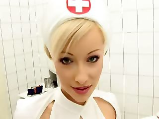 Babe Blonde Cute Nurse Uniform
